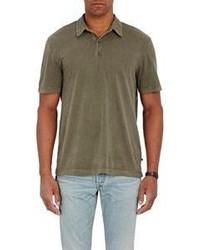 James Perse Jersey Polo Shirt Dark Green