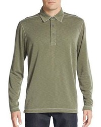 Saks Fifth Avenue Knit Long Sleeve Polo Shirt