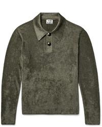 Acne Studios Kristiane Velour Polo Shirt