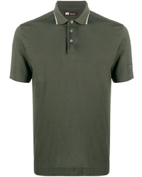 Z Zegna Logo Patch Cotton Polo Shirt