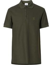 Burberry Monogram Motif Cotton Piqu Polo Shirt