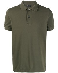 Tom Ford Short Sleeve Cotton Polo Shirt