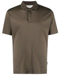 Z Zegna Short Sleeve Cotton Polo Shirt
