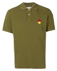 Ami Paris Short Sleeved Polo Shirt Smiley Patch