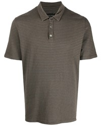 Roberto Collina Stripe Pattern Cotton Polo Shirt