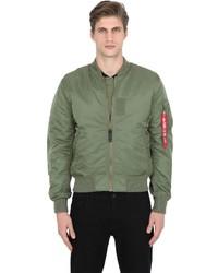 Olive Print Bomber Jacket