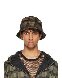 Dries Van Noten Khaki Len Lye Edition Graphic Nylon Bucket Hat