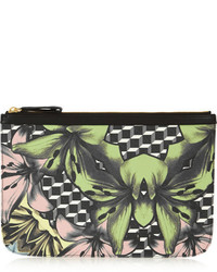 Floral print coated canvas clutch medium 156010