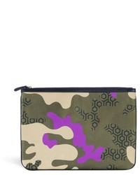 Mischa cdg camouflage hexagon print pouch medium 156011
