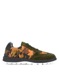Etro Abstract Print Panelled Sneakers
