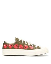 Comme des Garcons Comme Des Garons Signature Red Heart Print Sneakers