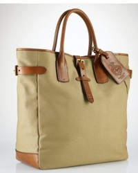 Olive Print Canvas Tote Bag