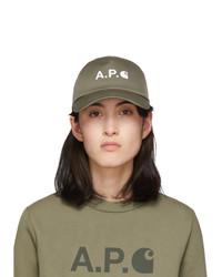 A.P.C. Khaki Carhartt Wip Edition Logo Cap