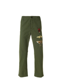 Gucci Insect Appliqud Chinos
