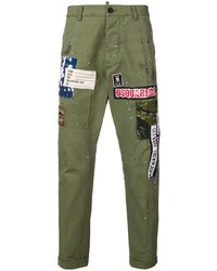 DSQUARED2 Logo Patch Chinos
