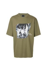 Olive Print Crew-neck T-shirt