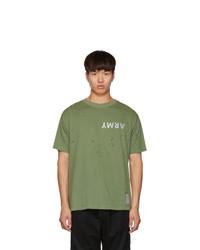 Satisfy Green Army Moth Eaten T Shirt