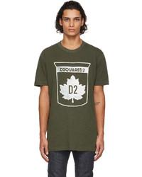 DSQUARED2 Green Maple Leaf T Shirt