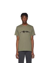 Rag and Bone Green Sound Wave T Shirt