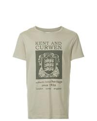 Kent & Curwen Lion Crest Print T Shirt