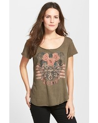 Screen print scoop neck tee medium 166279