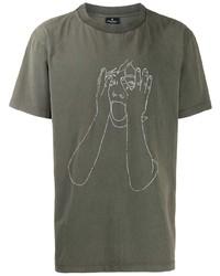 Marcelo Burlon County of Milan Sketch Print T Shirt
