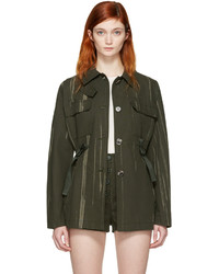 Proenza Schouler Green Printed Canvas Jacket