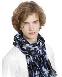 Valentino Camustars Print Linen Scarf