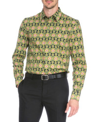 Givenchy Carpet Print Long Sleeve Shirt Green Pattern