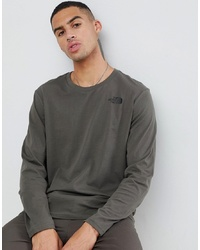 The North Face Long Sleeve Easy T Shirt In Green