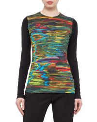 Printed long sleeve tee northern lights medium 694183