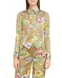 Marc Jacobs Floral Print Satin Vest