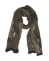 Diesel Camouflage Shredded Knit Scarf
