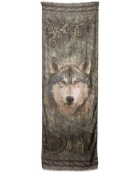 Etro Modal Cashmere Wolf Printed Scarf