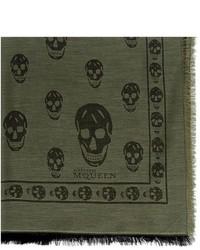 Alexander McQueen Skull Cotton Blend Scarf