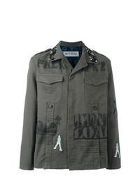 Olive Print Shirt Jacket