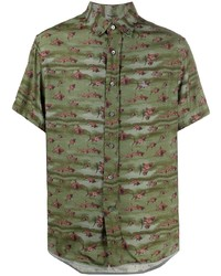 Lanvin Shark Print Short Sleeve Shirt