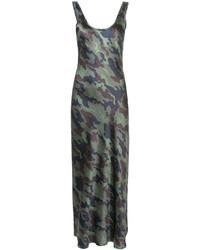 Camouflage print maxi dress medium 4991022