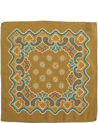 Barneys New York Paisley Border Pocket Square