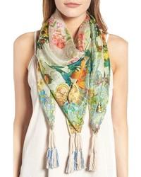 Holly print square silk scarf medium 4136888