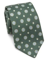 Kiton Circle Printed Silk Tie