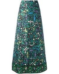 Valentino Printed A Line Skirt