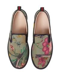 Gucci Flora Snake Slip On Sneaker