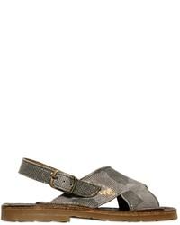 Pépé Camouflage Printed Suede Sandals