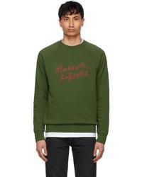 MAISON KITSUNÉ Khaki Handwriting Clean Sweatshirt