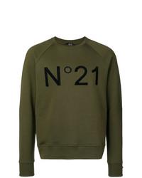 N°21 N21 Contrast Logo Sweatshirt