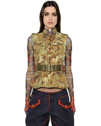 Dsquared2 Military Style Printed Canvas Vest