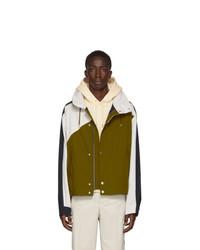 Kenzo Green And Navy Short Nauticial Coat