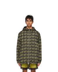 Dries Van Noten Green Len Lye Edition Check Jacket