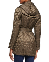 Burberry Brit Finsbridge Long Quilted Coat | Where to buy & how to ... : brown quilted coat - Adamdwight.com